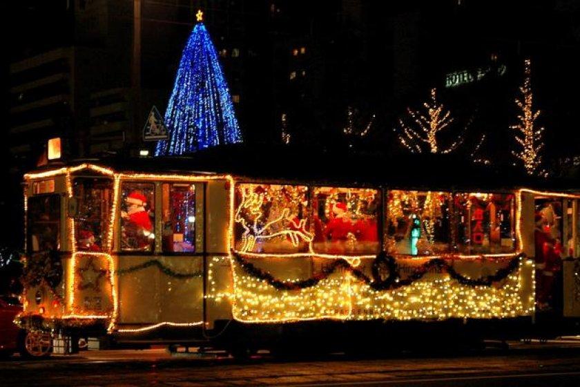 Illuminated street-car