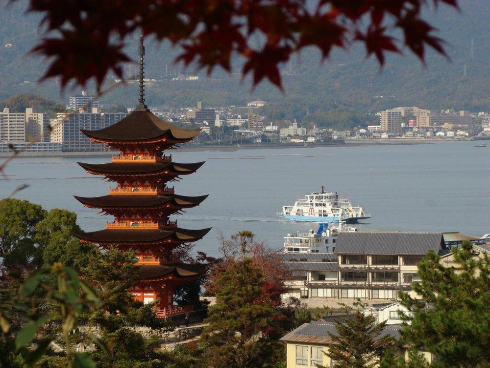 View out to the Seito-Naikai Inland sea from Miyajima's hills