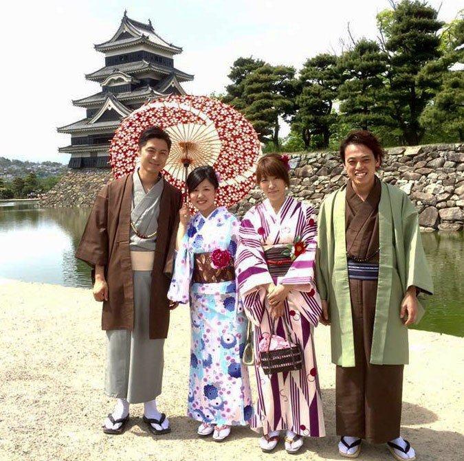 Kimono match Japan's oldest castle well