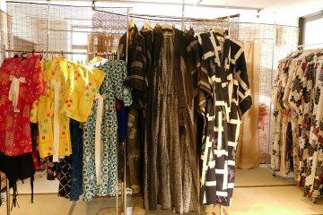 There are men's and kid's kimono and yukata (light and cool summer kimono)