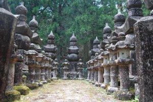 Large tomb side in Okunoin, Japan's biggest graveyard