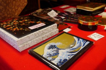 Laquerware, or urushi, are sold in countless forms
