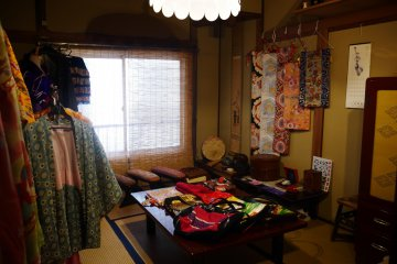 The boutique style shop sells kimono's, haori's, as well as bags and clothes made from kimono materials