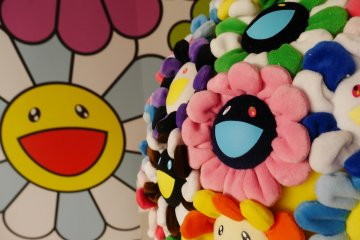 Murakami's world known flower pattern has made its way onto museum walls, shoes, and even as food