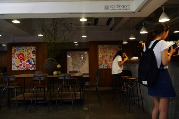 Open from lunch to midnight, Bar Zingaro functions as both a cafe and bar