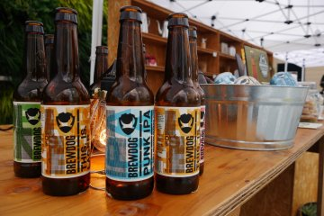 Beer and coffee are sold at Minedrip Cafe on the rooftop garden