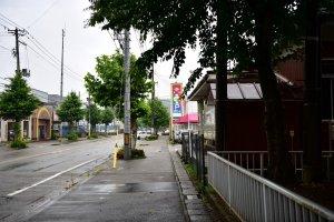 Walking from Murakami Station