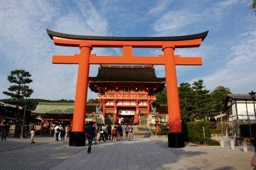 La entrada al templo.