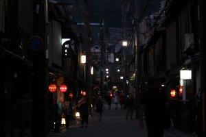 Las calles iluminadas.