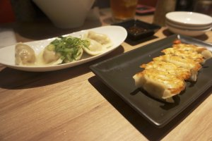Two kinds of gyoza