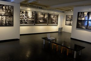 The gallery is small but feels spacious
