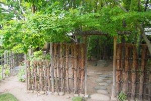 Gate of the tea garden