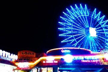 The gigantic ferris wheel is a distinct landmark inside the American Village