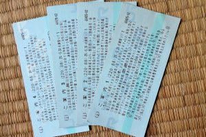 These are not my tickets. They are all explanation I can't read.