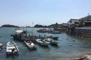 Countless boats line up along the town's shores