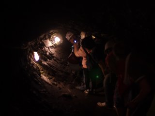 Plongeon à travers le tunnel