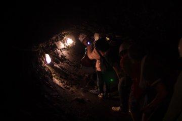 Нагнувшись по туннелю