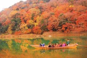 ชมสีสันของฤดูใบไม้ร่วงเลียบริมฝั่งแม่น้ำโฮะซุกะวะ (Hozugawa)