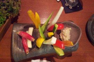 棒棒野菜アンチョビディップ