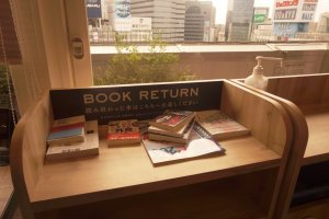 Here you can return the books you read inthe café