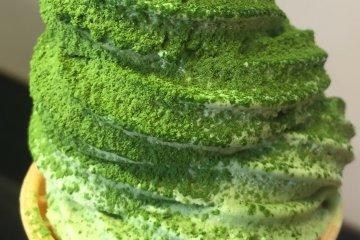 a close up of Double Matcha Soft Serve