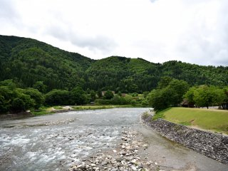 The raging Shokawa River