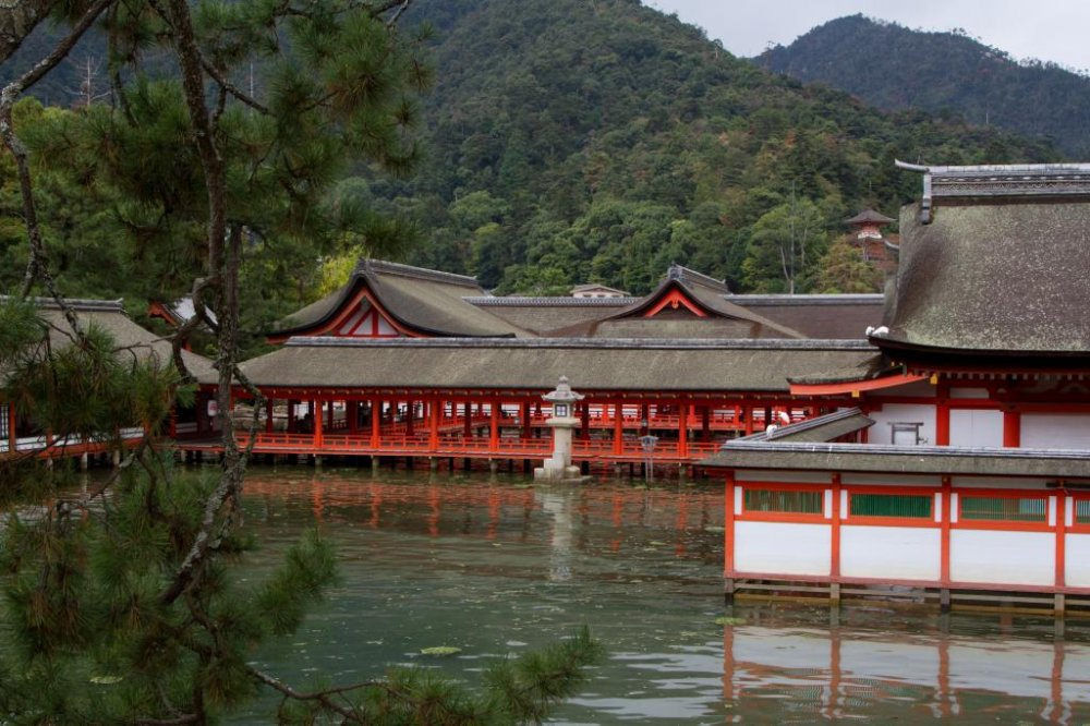 Being built over water the shrine seems to float during high tide