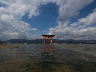 At low tide you can normallywalk around and through the torii. Just make sure that you don't forget the time out there, otherwise, it will be a quite wet experience!