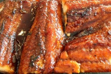 <p>Unagi Eel brushed with sweet soy sauce on rice</p>