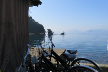 Park your bike and take a boat ride