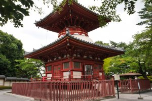 Kitain Temple's colorful pagoda