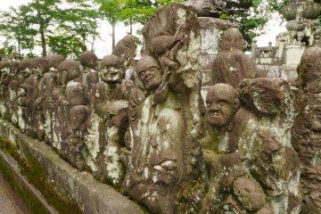 Several of the 540 Rakan statues