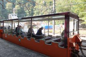 Open car train to Kurobe Gorge