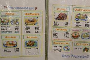Food menu part 1