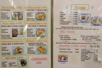 Food menu part 2