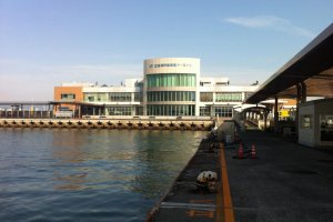 The ferry terminal at Hiroshima