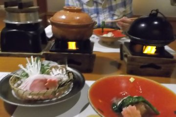 Traditional Japanese five course dinner