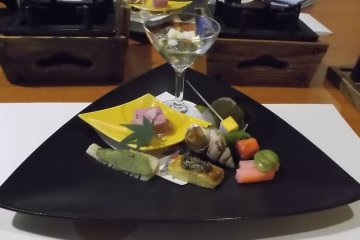 Traditional Japanese five course dinner 4