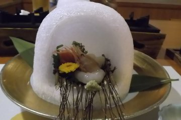 Traditional Japanese five course dinner 5