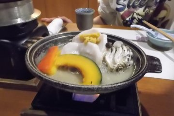 Traditional Japanese five course dinner 6