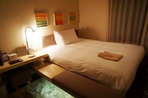 內裝舒適的房間,床也很好睡。