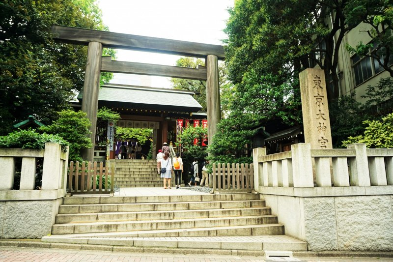 東京大神宮,以祈求良緣聞名的神社。