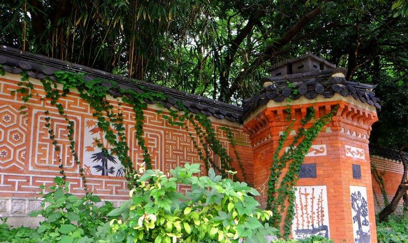 Korean Garden wall