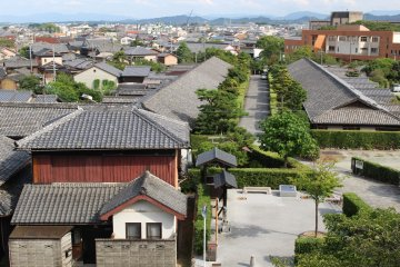 Samurai houses in central Matsusaka, as seen from the castle ruins