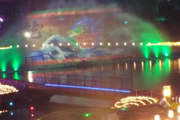 The first 3D water projection mapping show