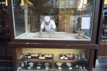 Making Soba on Chuo Dori Street
