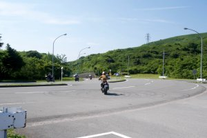 Fellow riders on their way out of Izu Skyline Parkway
