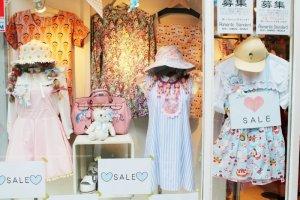 One of Harajuku's fashion store