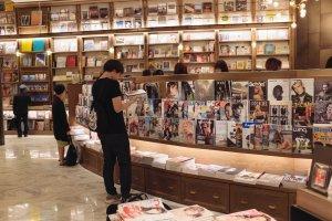 Magazine shelves