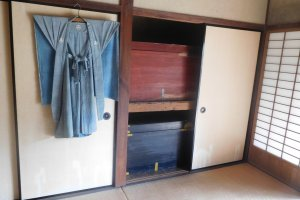 Intérieur d'une maison traditionnelle de samouraï